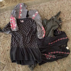 Lot of 4 CottonOn 3 dresses and 1 overall, Size 4